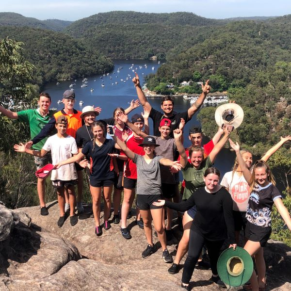 Gold participants having challenging and character-forming experience through the berowra valley