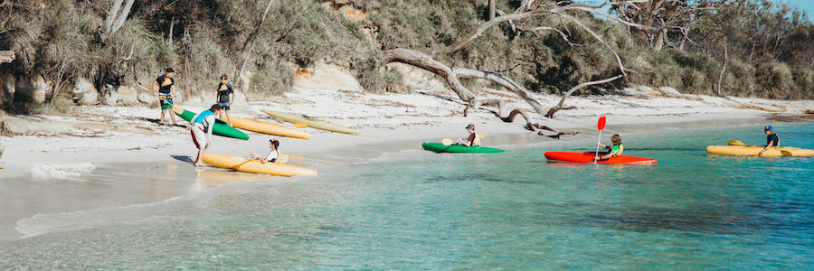 Just one of our various locations, Jervis Bay is truly a spectacular environment for a year group camp