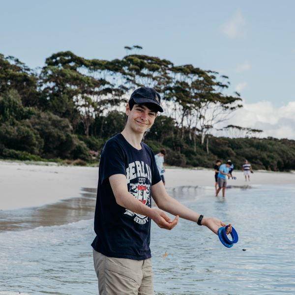Student fishing at jervis bay